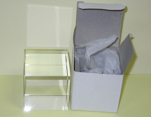 Optical Glass Cube 12 cm