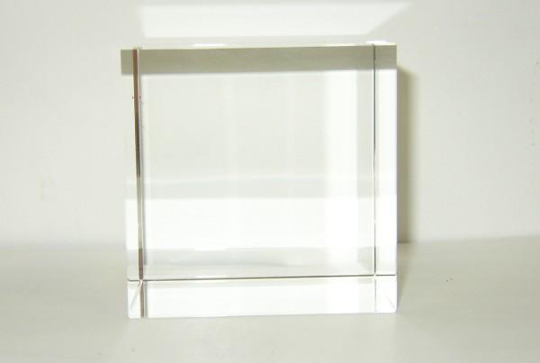 Optical Glass Cube 14 cm