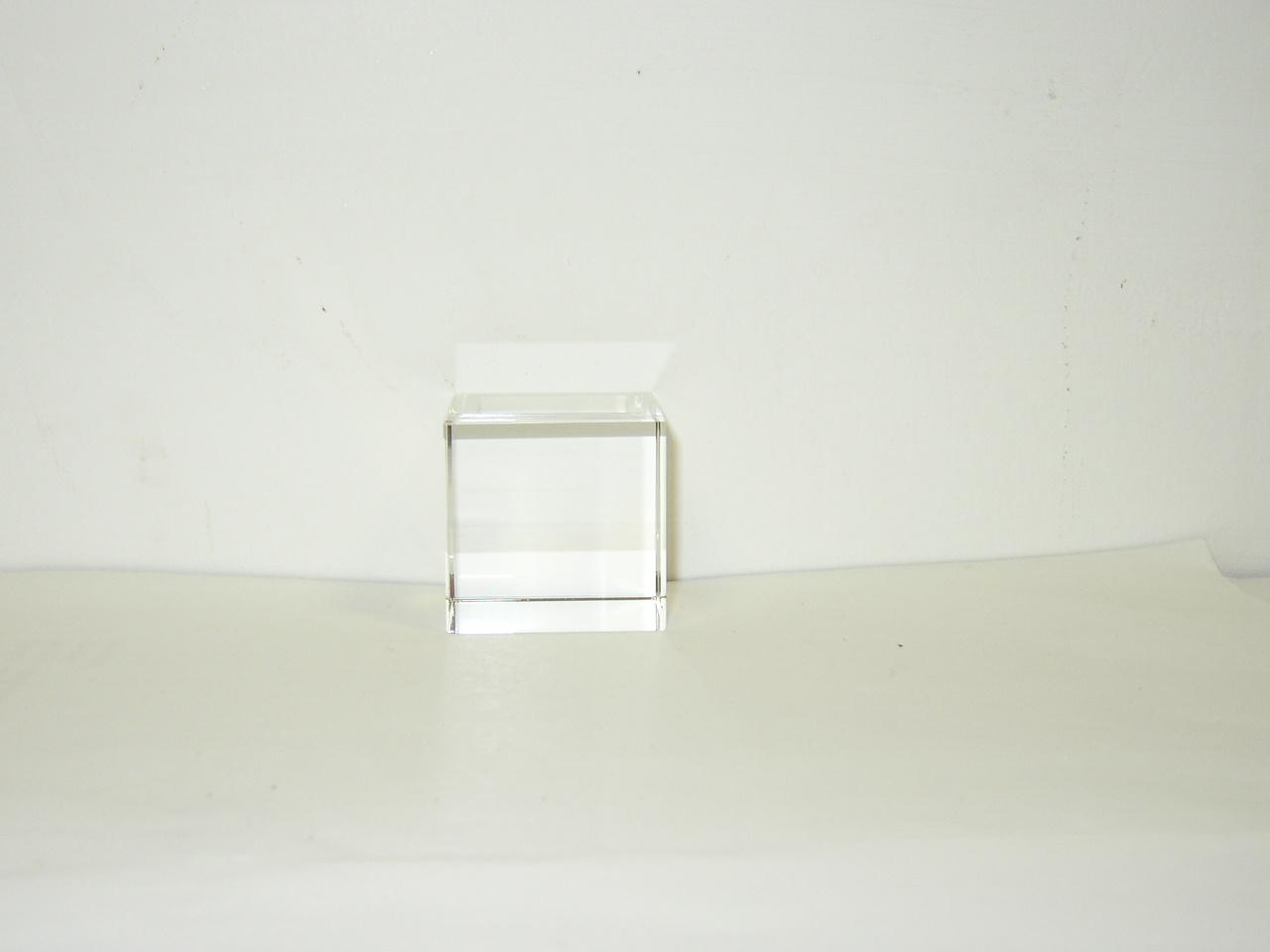 Optical Glass Cube 8 cm