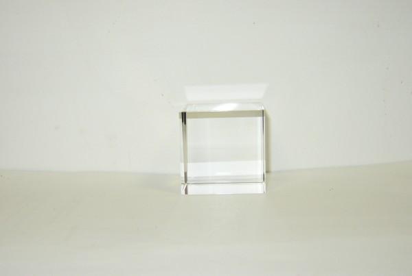 Optical Glass Cube 9 cm