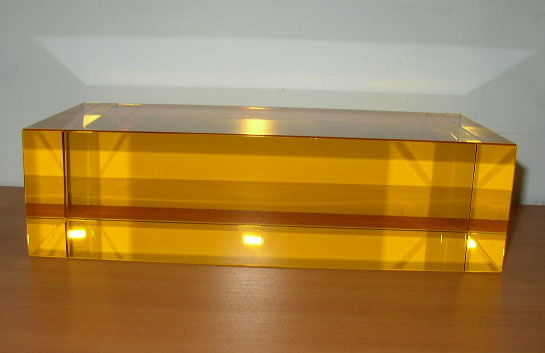 Gold Glass Rectangle
