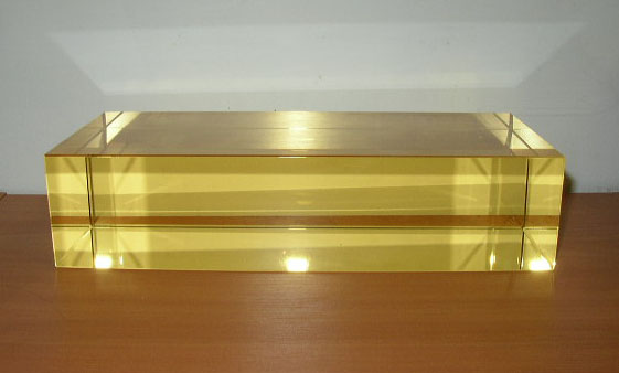 Yellow Optical Glass Rectangle