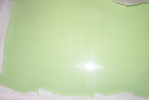 Raw Glass Block Pea Green