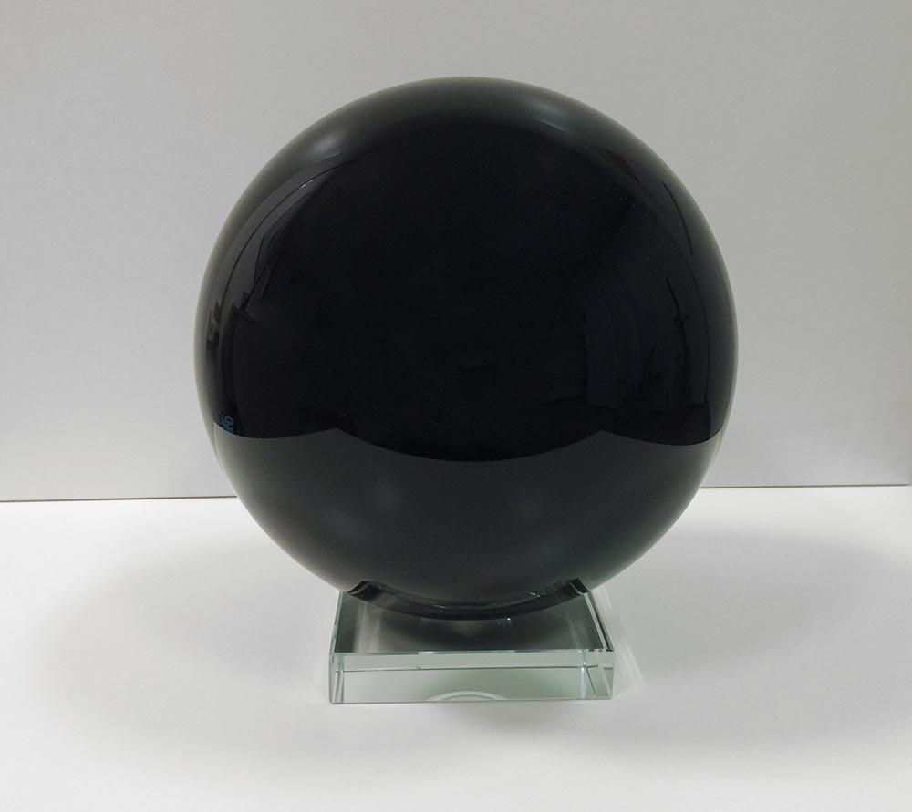 Black Glass Sphere