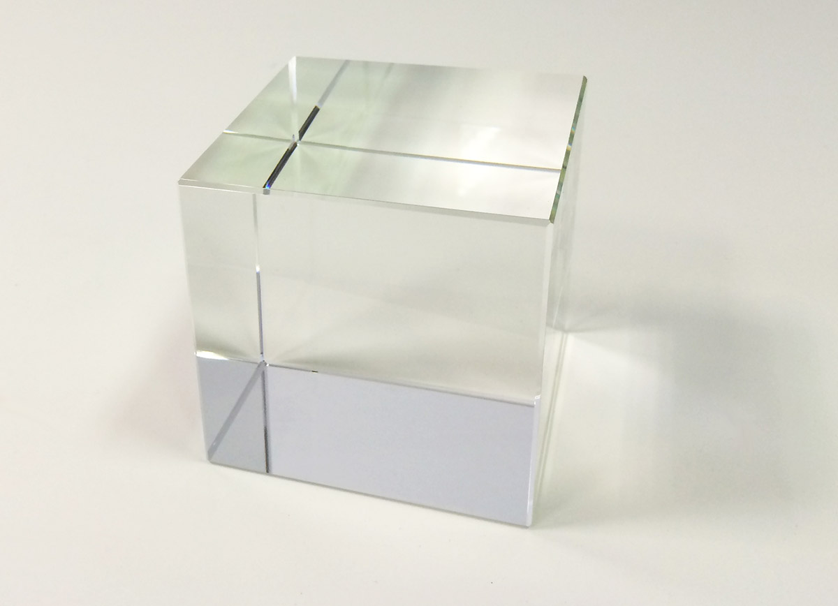 Crystal Glass Cube 15 Cm