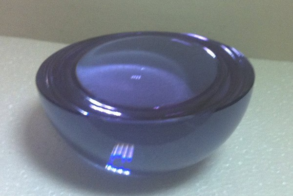 purple glass halfsphere