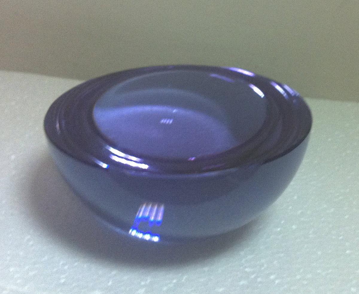 purple glass halfsphere