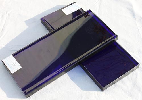 jewelry blue glass slab