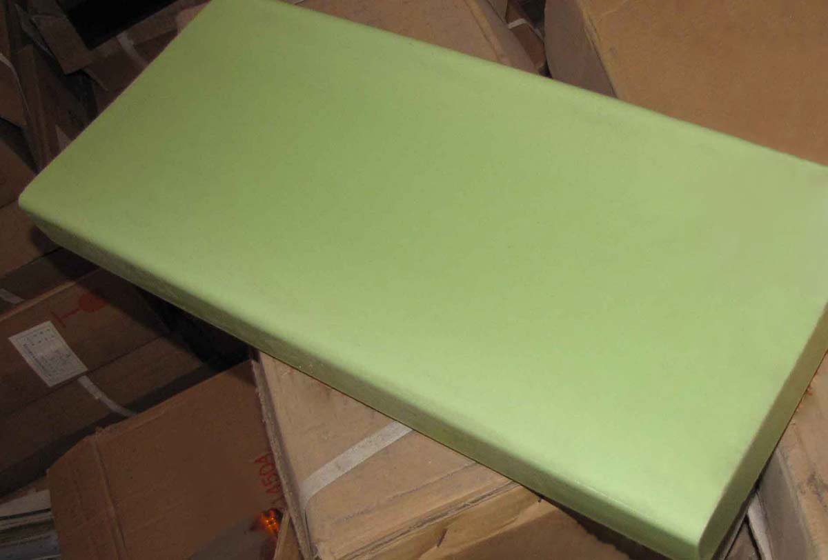 Milky Green Glass Slab