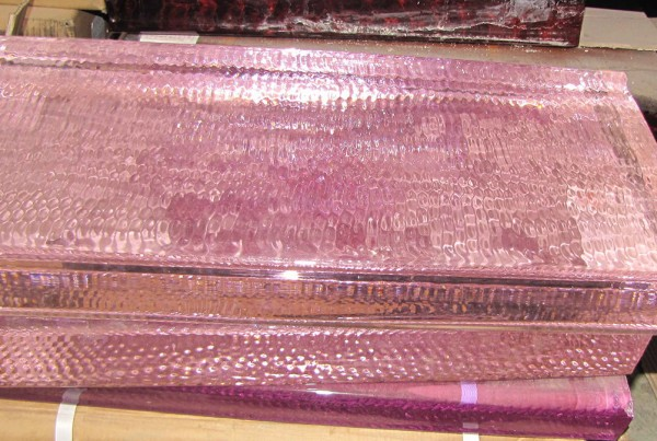Pink Glass Slab