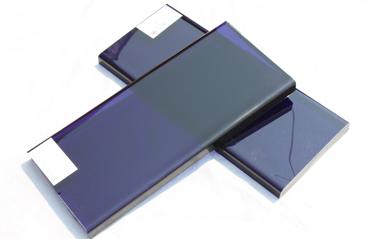 Tanzanite Blue Glass Slab