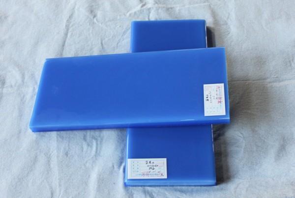 translucent blue opaque glass slab